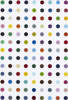 Damien Hirst, 1-Octanesulfonic Acid, 2010 Household gloss on canvas, 25 × 17 inches (63.5 × 43.2 cm)© Damien Hirst and Science Ltd. All rights reserved, DACS 2012