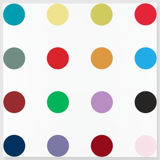 Damien Hirst, Isonicotinoyl Chloride, 2005 Household gloss on canvas, 84 × 84 inches (213.4 × 213.4 cm)© Damien Hirst and Science Ltd. All rights reserved, DACS 2012