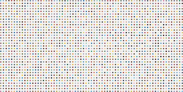 Damien Hirst, L-Lyxose, 2009 Household gloss on canvas, 13 ⅝ × 27 inches (34.5 × 68.5 cm)© Damien Hirst and Science Ltd. All rights reserved, DACS 2012