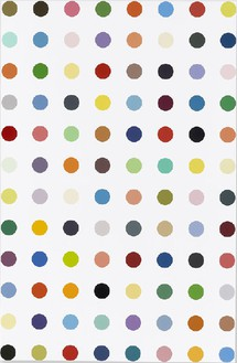 Damien Hirst, Emodin, 2008–11 Household gloss on canvas, 69 × 45 inches (175.3 × 114.3 cm)© Damien Hirst and Science Ltd. All rights reserved, DACS 2012