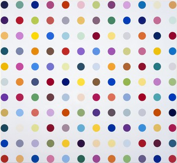 Damien Hirst, Beclometasona, 2008 Household gloss on canvas, 42 × 46 inches (106.7 × 116.8 cm)© Damien Hirst and Science Ltd. All rights reserved, DACS 2012