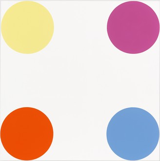 Damien Hirst, 8-Bromoguanine, 2005 Household gloss on canvas, 54 × 54 inches (137.2 × 137.2 cm)© Damien Hirst and Science Ltd. All rights reserved, DACS 2012