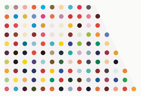 Damien Hirst, Morphine Sulphate, 1993 Household gloss on canvas, 57 × 87 inches (144.8 × 221 cm)© Damien Hirst and Science Ltd. All rights reserved, DACS 2012