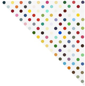 Damien Hirst, Levorphanol, 1995 Household gloss on canvas, 27 × 27 inches (68.6 × 68.6 cm)© Damien Hirst and Science Ltd. All rights reserved, DACS 2012
