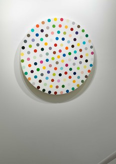 Installation view (stairwell) Artwork © Damien Hirst and Science Ltd. All rights reserved, DACS 2020. Photo: Rob McKeever