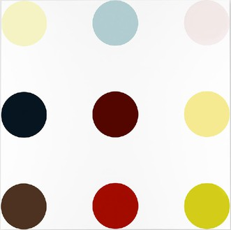 Damien Hirst, N-Methylurea, 2005 Household gloss on canvas, 120 × 120 inches (304.8 × 304.8 cm)© Damien Hirst and Science Ltd. All rights reserved, DACS 2012