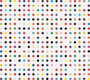 Damien Hirst, Phe-Tyr, 2004–11 Household gloss on canvas, 140 × 156 inches (355.6 × 396.2 cm)© Damien Hirst and Science Ltd. All rights reserved, DACS 2012
