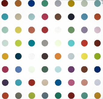 Damien Hirst, Ethyl Laurate, 2003 Household gloss on canvas, 59 × 59 inches (149.9 × 149.9 cm)© Damien Hirst and Science Ltd. All rights reserved, DACS 2012