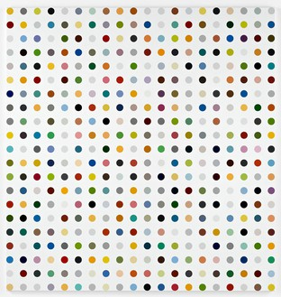 Damien Hirst, Prochlorperazine, 2009 Household gloss on canvas, 82 × 78 inches (208.3 × 198.1 cm)© Damien Hirst and Science Ltd. All rights reserved, DACS 2012