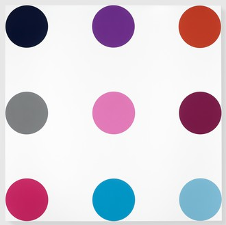 Damien Hirst, Myristyl Acetate, 2005 Household gloss on canvas, 180 × 180 inches (457.2 × 457.2 cm)© Damien Hirst and Science Ltd. All rights reserved, DACS 2012