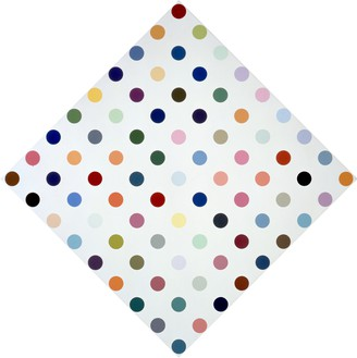 Damien Hirst, Eucatropine, 2005 Household gloss on canvas, 34 × 34 inches (86.4 × 86.4 cm)© Damien Hirst and Science Ltd. All rights reserved, DACS 2012