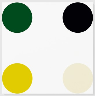 Damien Hirst, DL-Camphoric Acid, 2005 Household gloss on canvas, 72 × 72 inches (182.9 × 182.9 cm)© Damien Hirst and Science Ltd. All rights reserved, DACS 2012