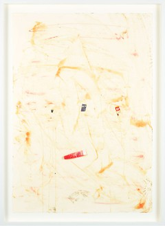 Dan Colen, To be titled, 2011 Mixed media and collage on paper, 39 ¾ × 28 ⅞ inches (101 × 73.3 cm)