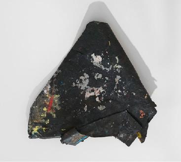 Dan Colen, Roof shingle, 2011 Mixed media, Dimensions variable