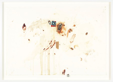 Dan Colen, To be titled, 2011 Mixed media and collage on paper, 24 ⅞ × 34 ⅛ inches (63.2 × 86.7 cm)
