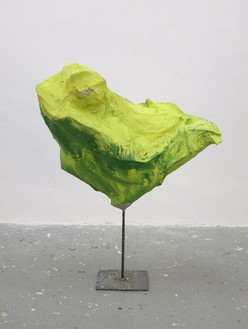 Franz West, Untitled, 2012 Steel, cardboard, paper mache, acrylic paint, 49 3/16 × 38 9/16 × 25 9/16 inches (125 × 98 × 65 cm)Photo by Marina Faust