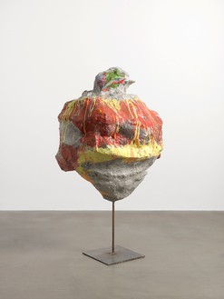 Franz West, Untitled, 2011 Papermache, styrofoam, acrylic lacquer, steel, 57 1/16 × 33 1/16 × 26 ¾ inches (145 × 84 × 68 cm)Photo by Mike Bruce