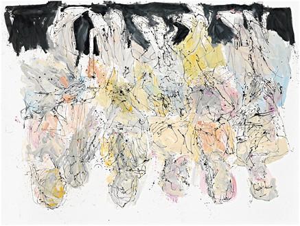 Georg Baselitz, Laß uns nach Dänemark fahren (Let's Go to Denmark), 2011 Oil on canvas, 118 ⅛ × 157 ½ inches (300 × 400 cm)© Georg Baselitz
