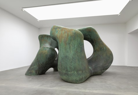 Henry Moore, Large Two Forms, 1966 Bronze, 141 ¾ × 240 ¼ × 171 ⅜ inches (360 × 610 × 435 cm), edition of 4Reproduced by permission of the Henry Moore Foundation. Photo: Mike Bruce