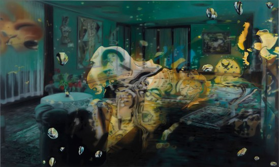 Karin Kneffel, Untitled, 2011 Oil on canvas, 70 ¾ × 118 ¼ inches (179.7 × 300.4 cm)