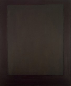 Mark Rothko, Plum and Dark Brown, 1964 Oil on canvas, 93 × 76 inches (236.2 × 193 cm)