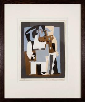 Pablo Picasso, Reproduction au pochoir d'une oeuvre originale de Pablo Picasso, signé par l'artiste, 1924 Stencil color, 'Procédé Jacomet,' 12 × 9 ¼ inches (30.5 × 23.5 cm)© 2012 Estate of Pablo Picasso/Artists Rights Society (ARS), New York