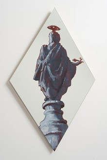 Rachel Feinstein, St. Peter, 2012 Oil enamel on mirror, 46 × 26 inches (116.8 × 66 cm)Photo by Giorgio Benni
