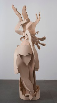 Rachel Feinstein, St. Agatha, 2012 Aqua resin, steel, wire and wood, 100 × 48 × 38 inches (254 × 121.9 × 96.5 cm)Photo by Giorgio Benni