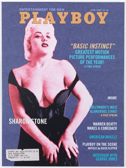 Bob Dylan, Playboy Magazine: Sharon Stone, 2011–12 Silkscreen on canvas, 54 × 40 inches (137.2 × 101.6 cm)
