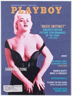 Bob Dylan, Playboy Magazine: Sharon Stone, 2011–12 Silkscreen on canvas, 54 × 40 inches (137.2 × 101.6 cm)