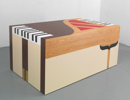 Richard Artschwager, Piano/Piano, 2011 Laminate on wood, 35 × 79 × 47 ⅞ inches (88.9 × 200.7 × 121.6 cm)