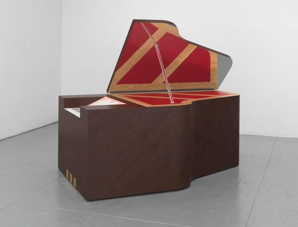 Richard Artschwager, Piano Grande, 2012 (view 1) Laminate on wood, 46 × 79 ½ × 35 inches (116.8 × 201.9 × 88.9 cm)Photo by Rob McKeever