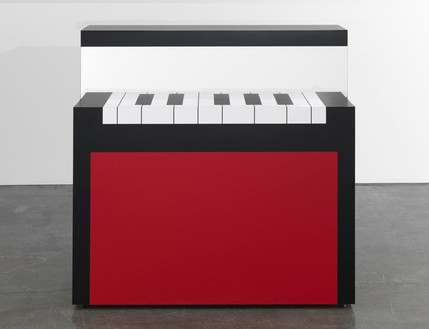 Richard Artschwager, Piano/Malevich, 2012 Laminate on wood, 48 × 48 × 27 inches (121.9 × 121.9 × 68.6 cm)Photo by Rob McKeever