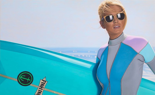 Richard Phillips, First Point, 2012 Oil on canvas, 92 × 149 ½ inches (233.7 × 379.7 cm)