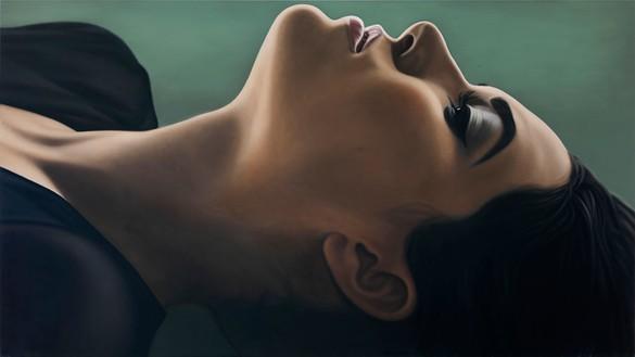 Richard Phillips, Sasha III, 2012 Oil on canvas, 84 × 149 ½ inches (213.4 × 379.7 cm)
