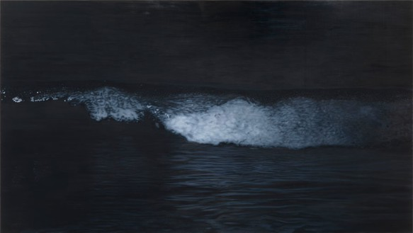 Richard Phillips, Black Water, 2012 Oil on canvas, 102 × 181 inches (259.1 × 459.7 cm)