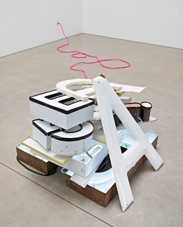 Jack Pierson, Everything You Ever Wanted, 2012 Plastic, wood, neon, and metal, 37 ½ × 45 × 36 inches (95.2 × 114.3 × 91.4 cm)Photo: Douglas M. Parker Studio