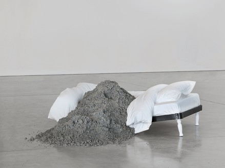 Urs Fischer, Kratz, 2011 Cast aluminum, concrete, aluminum, epoxy, fiberglass, wire mesh, epoxy primer, polyester filler, one-component acrylic putty, urethane primer, polyester paint, and acrylic polyurethane matte clearcoat, 75 ¾ × 88 ½ × 25 ½ inches (192.4 × 224.8 × 64.8 cm), edition of 3© Urs Fischer. Photo: Mats Nordman