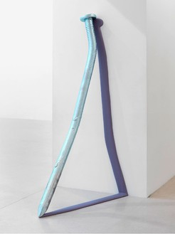 Urs Fischer, To be titled, 2012 Galvanized bronze, bronze, two-component epoxy primer, polyester filler, two-component polyester body filler, urethane primer, polyester paint, and acrylic polyurethane matte clearcoat, 72 ⅝ × 37 × 15 ⅝ inches (184.5 × 94 × 39.7 cm), edition of 3© Urs Fischer. Photo: Stefan Altenburger