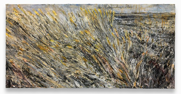 Anselm Kiefer, der Morgenthau-Plan, 2012 Acrylic, emulsion, oil, and shellac on photograph mounted on canvas, 74 ¾ × 149 ⅝ inches (190 × 380 cm)© Anselm Kiefer