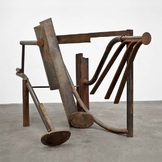Anthony Caro, Torrents, 2012 Steel, rusted, 96 ⅛ × 126 × 70 ⅛ inches (244 × 320 × 178 cm)© Barford Sculptures Ltd, photo by John Hammond