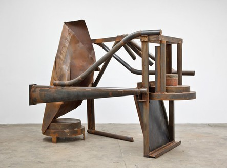 Anthony Caro, Towards Morning, 2012 Steel, rusted, 118 ⅛ × 144 ⅛ × 65 inches 300 × 366 × 165 cm)© Barford Sculptures Ltd, photo by John Hammond