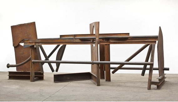 Anthony Caro, Morning Shadows, 2012 Steel, rusted, 92 ⅞ × 77 ⅝ inches (236 × 630 × 197 cm)© Barford Sculptures Ltd, photo by John Hammond