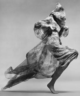Richard Avedon, Jean Shrimpton, evening dress by Cardin, Paris, January 1970, 1981 Gelatin silver print, 24 × 20 inches (61 × 50.8 cm), edition of 50© The Richard Avedon Foundation