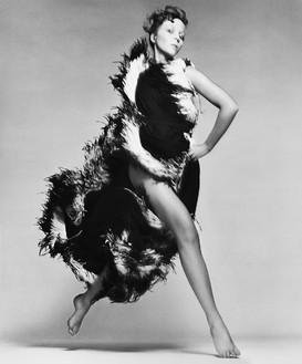 Richard Avedon, Penelope Tree, evening dress by Lanvin, Paris, January 1968, 1981 Gelatin silver print, 24 × 20 inches (61 × 50.8 cm), edition of 50© The Richard Avedon Foundation