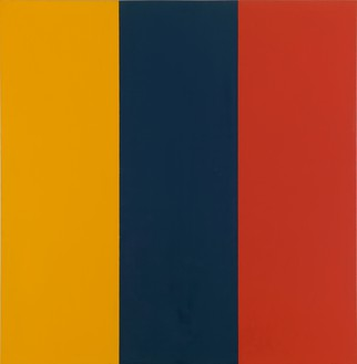 Brice Marden, Red Yellow Blue II, 1974 Oil and beeswax on fabric, 73 ¼ × 72 ½ inches (186.1 × 184.2 cm)The Museum of Contemporary Art, Los Angeles, The Barry Lowen Collection© Brice Marden/Artists Rights Society (ARS), New York