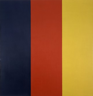 Brice Marden, Red Yellow Blue III, 1974 Oil and wax on canvas, 74 × 72 inches (188 × 182.9 cm)© Brice Marden/Artists Rights Society (ARS), New York