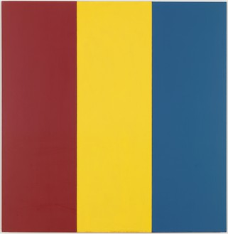 Brice Marden, Red Yellow Blue I, 1974 Oil and wax on fabric, 74 × 72 inches (188 × 192.9 cm)Albright-Knox Art Gallery, Buffalo, New York, James S. Ely Fund, 1974© Brice Marden/Artists Rights Society (ARS), New York
