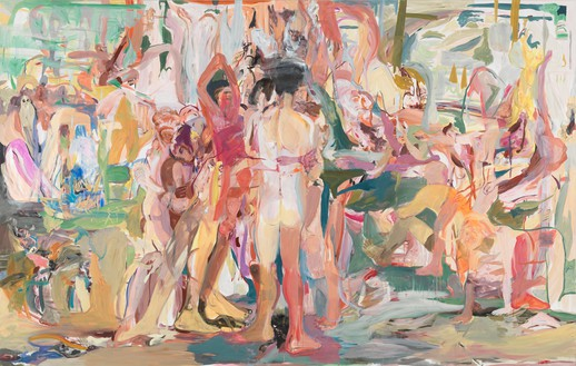 Cecily Brown, Be Nice to the Big Blue Sea, 2013 Oil on linen, 109 × 171 inches (276.9 × 434.3 cm)Photo by Robert McKeever