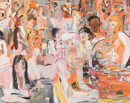Cecily Brown, Untitled, 2013 Oil on linen, 77 × 97 inches (195.6 × 246.4 cm)Photo by Robert McKeever